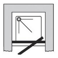 Porte pivotante CONCERTO 76-82 verre serigraphié