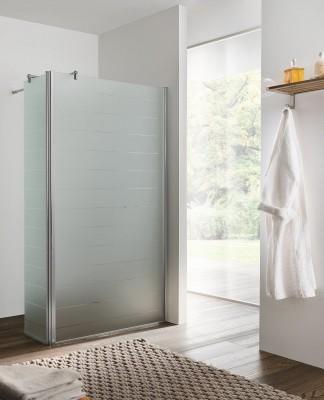 Paroi de douche latérale largeur 30cm verre transparent BASIC SEGMENT