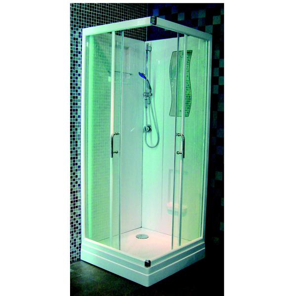 Cabine de douche concerto 90x90cm d 39 angle porte - Porte coulissante en verre pas cher ...