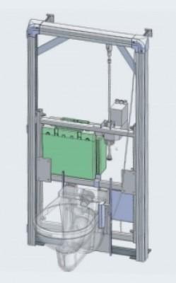 Sanimatic wc ch ssis motoris pour wc hauteur variable for Peindre aluminium anodise