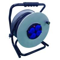 Enrouleur câble HO7RNF 3G2,5 flasque métal longueur 40m NOVIPRO