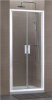 Paroi CONCERTO 2 accès de face 2 portes 90 blanc verre transparent