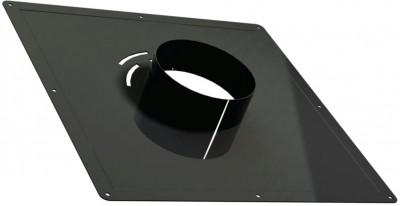 Plaque de propreté 400x400 noir D180v TEN