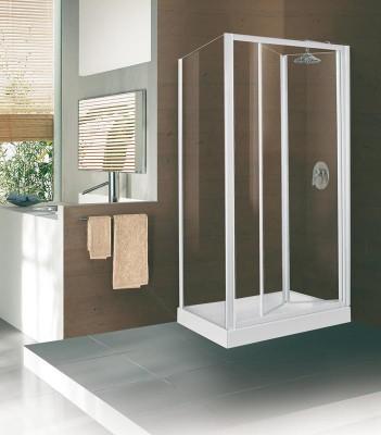 Paroi de douche escamotable CONCERTO 76-82cm verre transparent