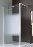 Paroi JAZZ fixe 80 verre dépoli profilé blanc LEDA