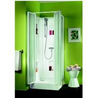 Cabine de douche IZIBOX carrée 80x80 cm, installation en angle ou encastrée LEDA