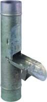 Recuperateur d'eau à clapet zinc diamètre 80mm RHEINZINK