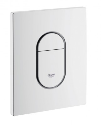 plaque de commande wc arena blanc r f 38844 grohe moulins 03000 d stockage habitat. Black Bedroom Furniture Sets. Home Design Ideas
