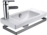 Lave-mains compact ODEON UP 50x22cm percé 1 trou à gauche blanc JACOB DELAFON