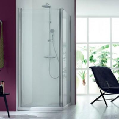 Paroi de douche fixe 87/91cm verre transparent BASIC SEGMENT