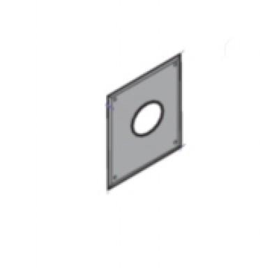 Plaque de finition cheminée diamètre 125mm DY758 DE DIETRICH