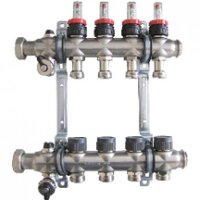 Distributeur collecteur 1 5 circuits oventrop albertville 73200 d stockage habitat - Reglage collecteur plancher chauffant ...