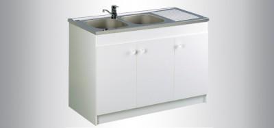 Sous vier leader 100 2 portes blanc aquarine vitrolles 13127 d stockage habitat - Panneau agglomere hydrofuge 22mm ...