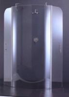 Paroi de douche GO8 pivotante et fixe 98 verre trempé chromé NOVELLINI