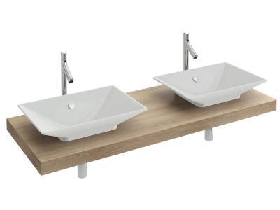 Table Parallel L1600 2 Vasques R Ve Blanc Jacob Delafon