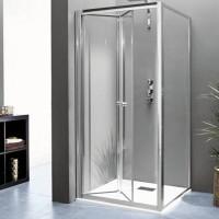 Paroi de douche fixe KINECHROMEpour montage en angle - Hauteur du verre 185cm KINEDO DOUCHE