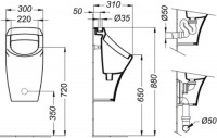 Siphon AXIF sortie verticale blanc PORCHER
