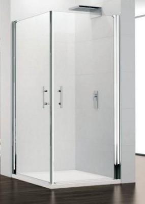 Porte de douche young 2gl pivotant 87cm verre transparent for Porte douche pivotant