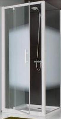 Paroi JAZZ fixe 75cm verre dépoli totale profile argent LEDA