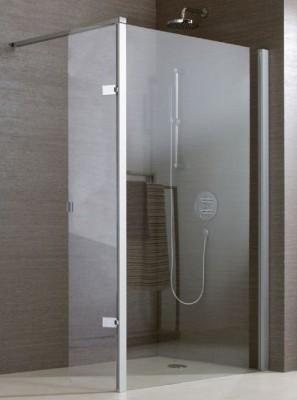 Paroi JAZZ retour douche ouverte 25cm verre transparent LEDA
