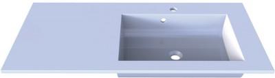 Plan synthèse PLENITUDE 105cm vasque à droite profondeur 50cm