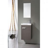 Meuble lave-mains 1 porte 40cm WOODSTOCK gris foncé ALTERNA
