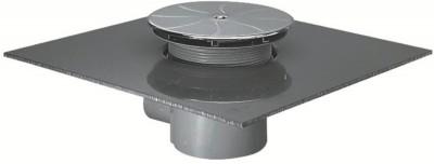 Bonde siphoïde D90mm sortie verticale, chromé PORCHER