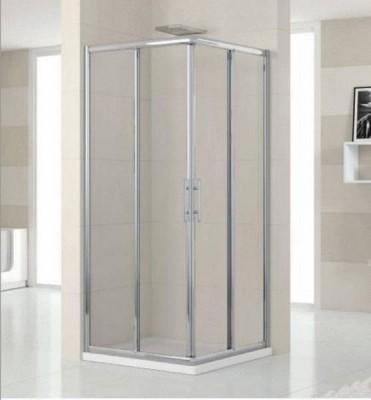 Paroi de douche LUNES AL coullissant+fixe 78 verre gothique silver NOVELLINI