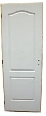 Bloc porte alvéolaire postformée pré peint 2 panneaux chapeau de gendarme gauche condition recouvrement 68x57 AVM MENUISERIES SAS
