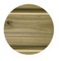 Bardage Profil boxe rainé Douglas traitement classe 3 41x133x5000mm vert