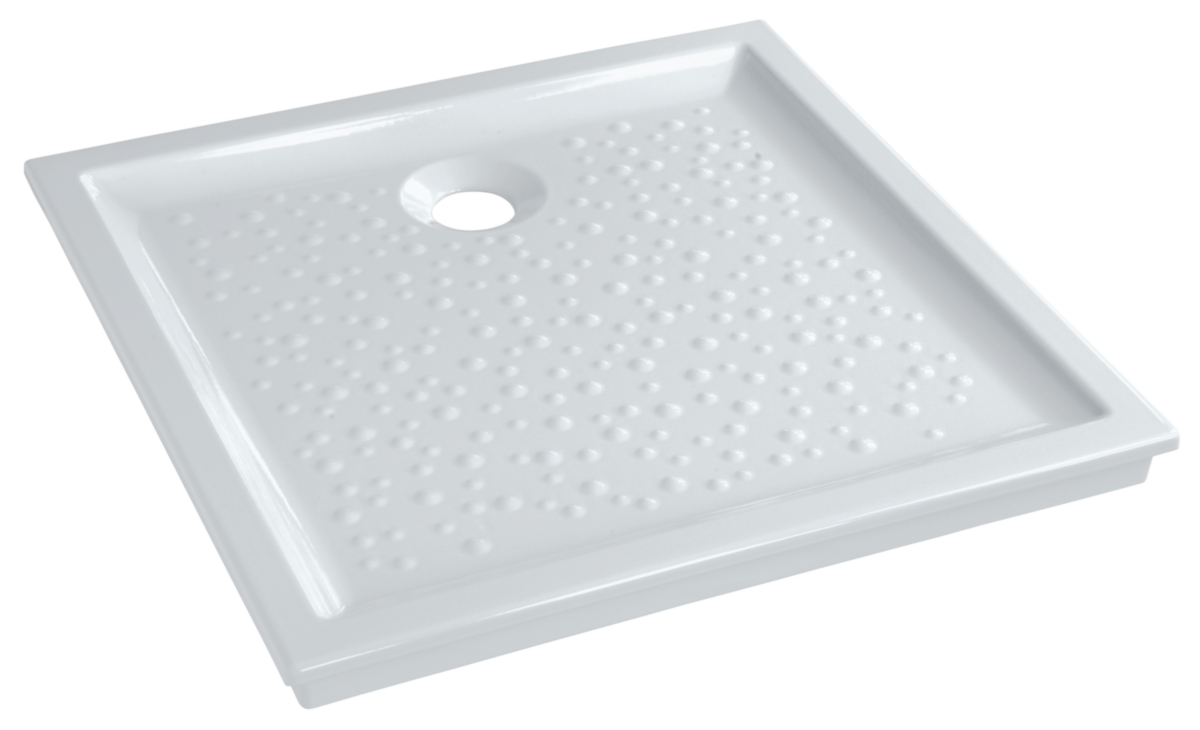 Receveur bastia c ramique 80x80 extra plat encastrer for Bonde receveur extra plat