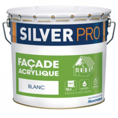 peinture fa ade acrylique blanc 10l morlaix 29600 d stockage habitat. Black Bedroom Furniture Sets. Home Design Ideas