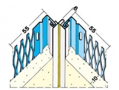 Joint de dilatation d'angle ton pierre 3m de longueur, 10 par botte PROTEKTOR