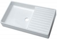 Evier égouttoir à droite PUBLICA 100x50cm blanc ALLIA