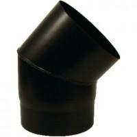 Coude SANPLI BR45 noir mat diamètre 125mm TEN