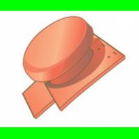 Tuille à douille diamètre 150m chapeau EMINENCE rouge flammé 65EM 78 TERREAL MUREAUX