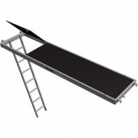 Plancher aluminium bois 0.75x3m trappe nf ALTRAD SAINT DENIS
