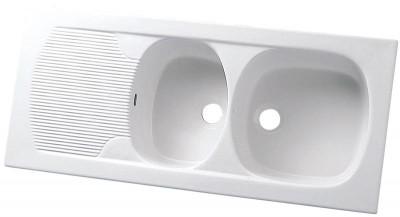 Evier à encastrer CONCERTO 1120x505mm blanc