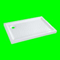 Receveur à poser PRIMA 90x70cm extra-plat blanc ALLIA