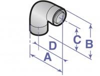 Coude PPS 45° D60/100mm (x2) DE DIETRICH