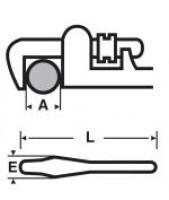 Clé TUBAR manche aluminum 80x90mm VIRAX