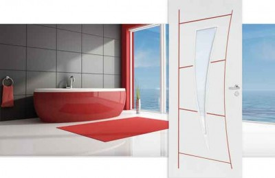 Bloc porte graphik alv olaire kurve 1 vantail righini for Bloc porte interieur vitree