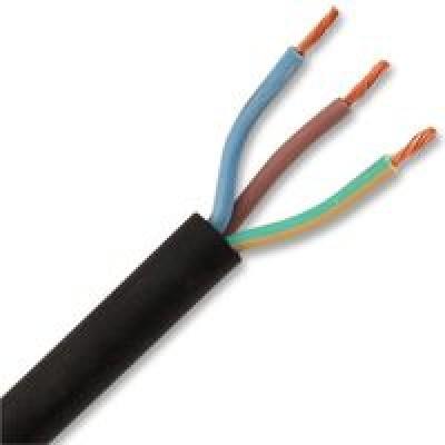 Câble industriel souple  HO7RN-F 3G1,5mm² noir au mètre NEXANS France