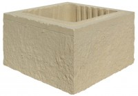 Référence élément de pilier 39X39X16,7cm ton pierre WESER