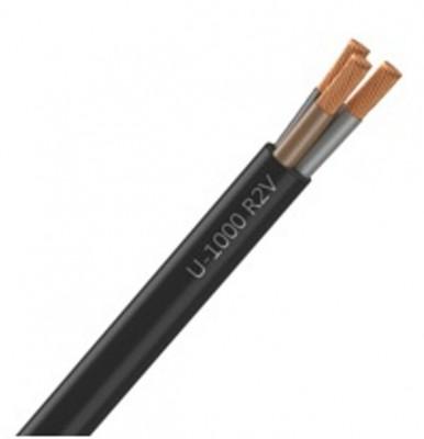 Câble industriel rigide U1000 RO2V 3 G section 1,5mm2 noir, au mètre NEXANS France