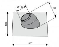 Kit d'étanchéité toiture brique 35 à 55° SAUNIER DUVAL