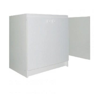 Meuble mal m lamin 140cm blanc moderna villejuif - Meuble melamine blanc ...