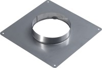 Plaque d'étanchéité haute Inox diamètre 125x131mm TEN