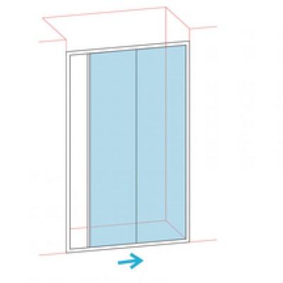 Paroi de douche coulissante largeur 116/122cm verre sécurité BASIC SEGMENT