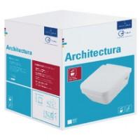 Pack WC suspendu ARCHITECTURA carré sans bride avec frein de chute déclipsable VILLEROY ET BOCH